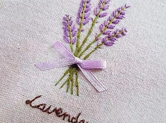 教你2种刺绣针法,看它如何既能当花又能做叶子用图片