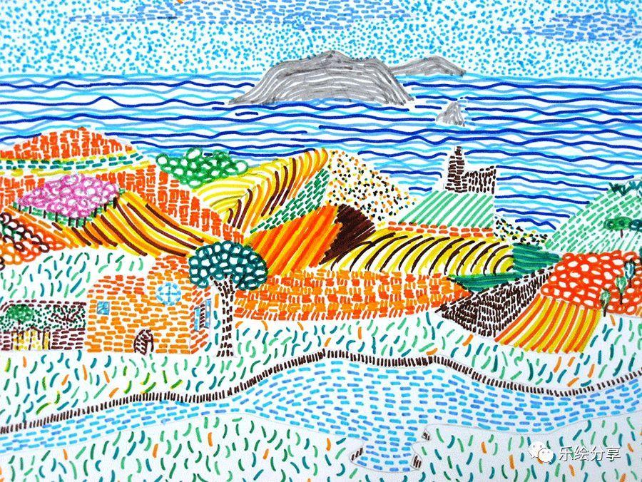 创意儿童美术课堂|水彩笔艺术课程2例图片