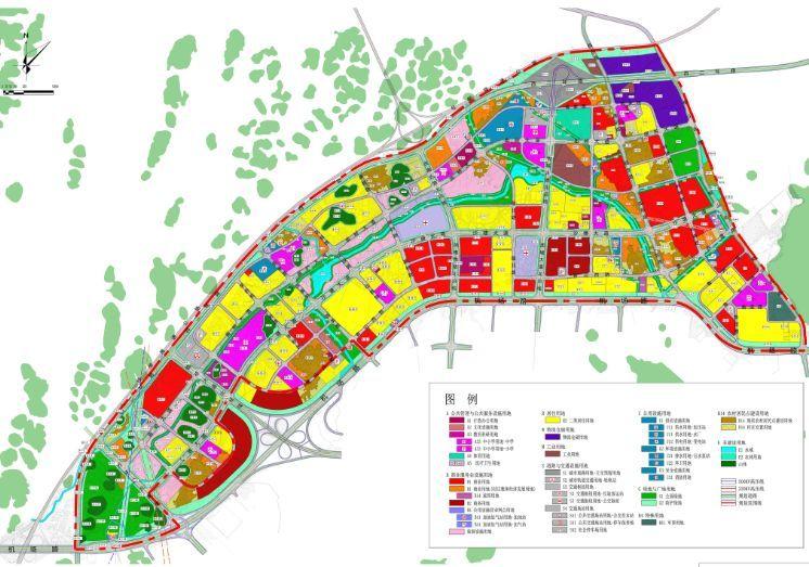 临桂新区机场路以北片区规划图