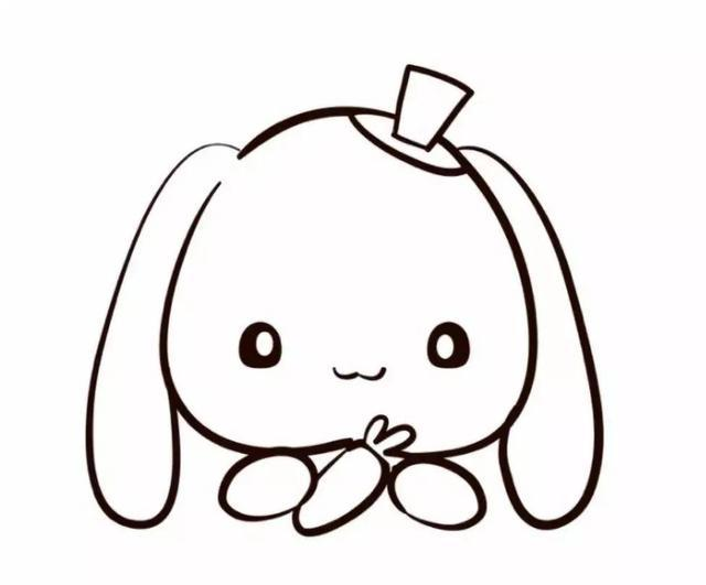 亲子简笔画 萌哒哒的小兔几