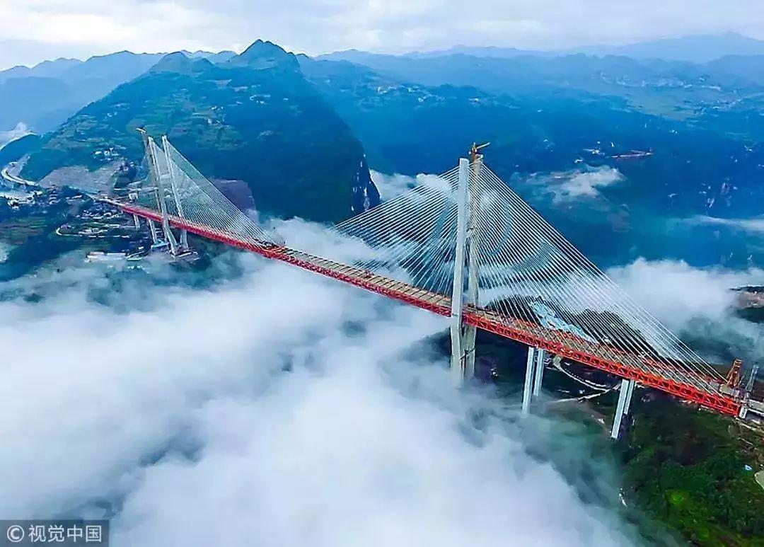 图片来源:视觉中国 北盘江特大桥位于六盘水市水城县发耳乡和营盘乡