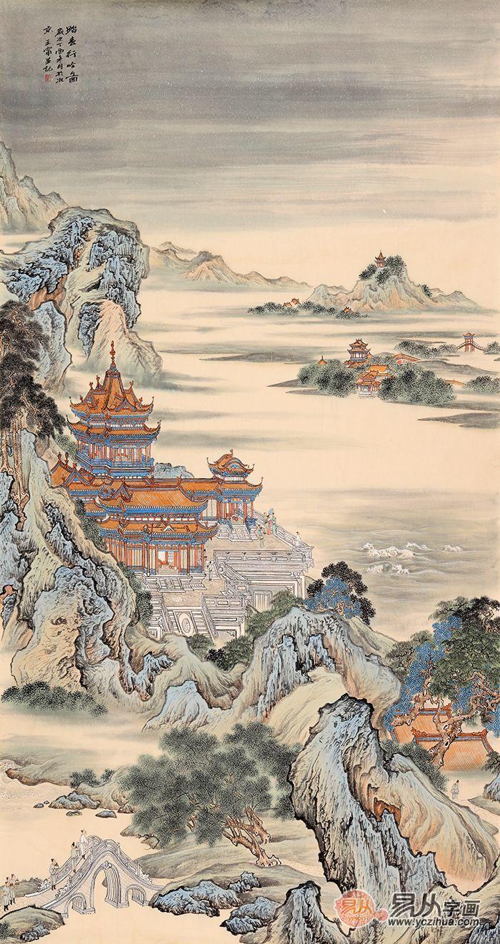 国画欣赏 当代实力派画家王宁的仿古山水画图片