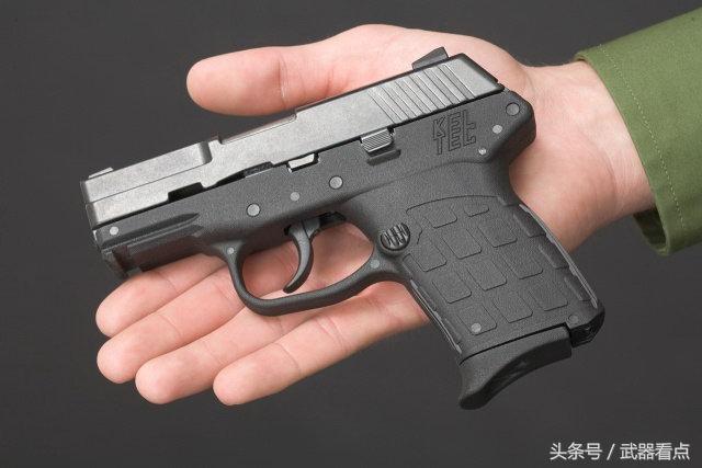 军事丨 pf-9袖珍手枪,单排弹匣,使握把更窄小图片