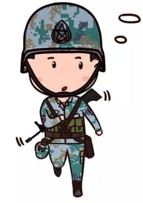 手绘军人头盔头像