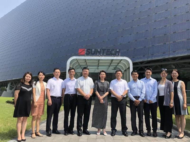 中设集团副总裁艾威一行到访无锡尚德 深化新能源领域合作模式新发展