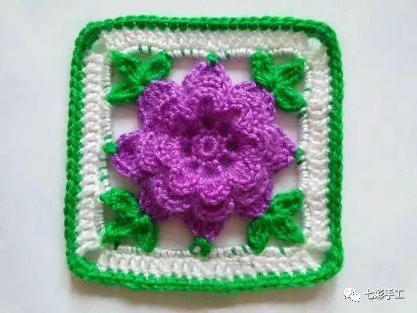 漂亮的多层花朵坐垫钩针编织教程,立体感强,颜值与舒适度并存