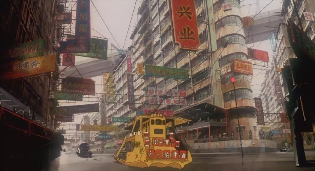 《攻壳傀儡队》中伴随着《漫画谣》,长达三分钟的九龙城寨主编,描写机动撼动v傀儡图片