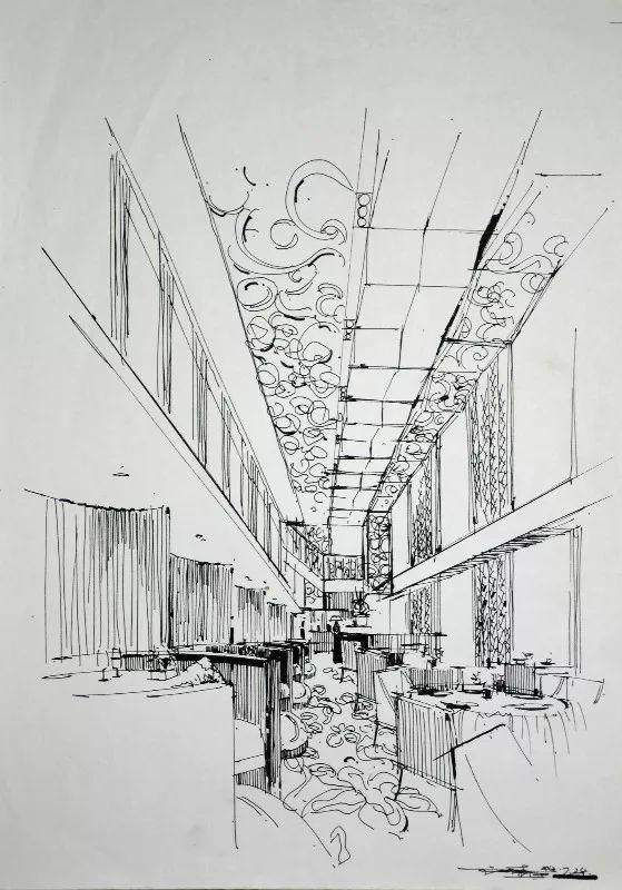 室内空间线稿分享