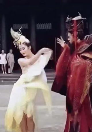"""景区靠纣王妲己""""魔性舞蹈""""来宣传,没想到真火了,人民图片"""