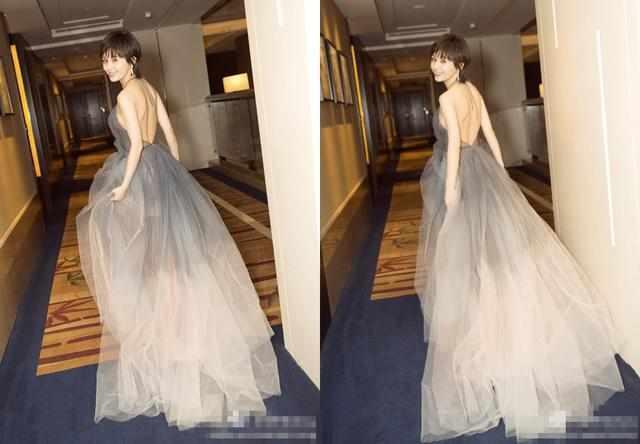 王子文穿半透视纱裙亮相,三角区域亮了,网友:想不到她这么保守