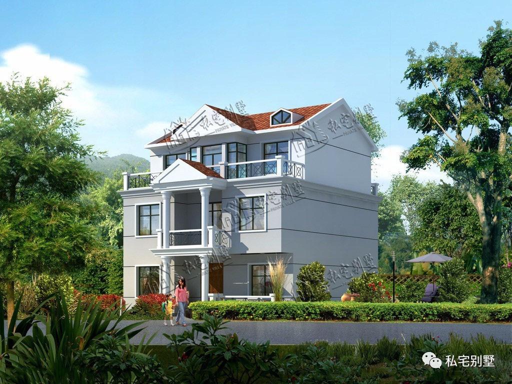 新农村三层别墅设计图案例三