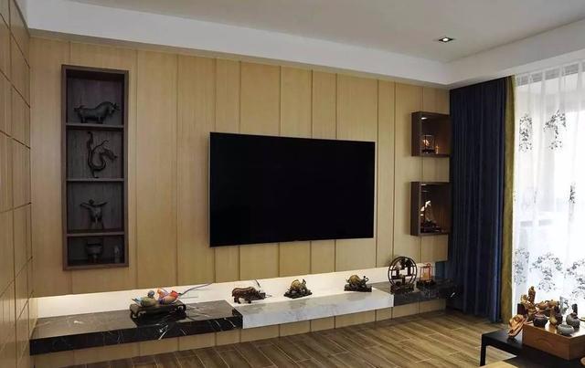长沙室内家装新中式,116㎡两室两厅,一家三口享清闲图片