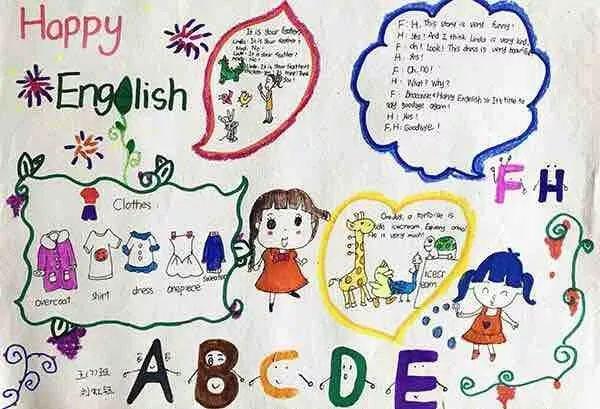 创意又好看的英语手抄报,孩子一定用的到!值得收藏