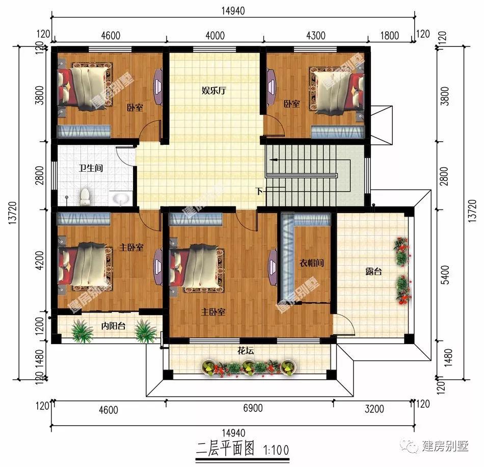 8米x8米别墅设计图