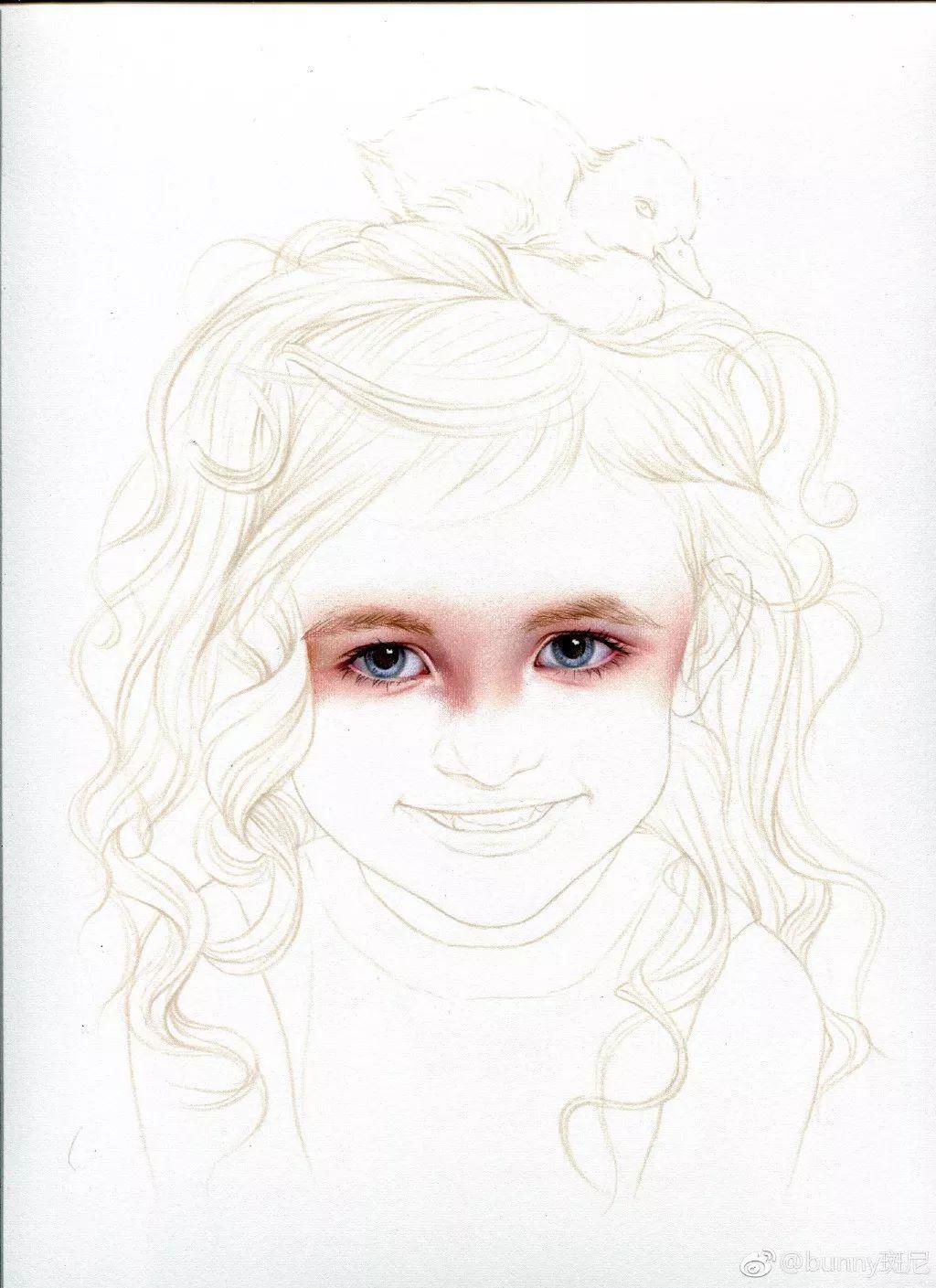 笔下的美女姐姐,美得不要不要哒 彩铅大教程来了 教你如何画小女孩图片