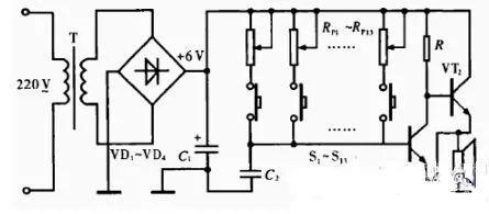 简易电子琴的工作原理_简易电子琴仿真电路图