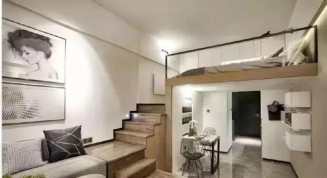 户型是一个长方形,整个 小公寓装修都是自己亲自动手,经过一番努力