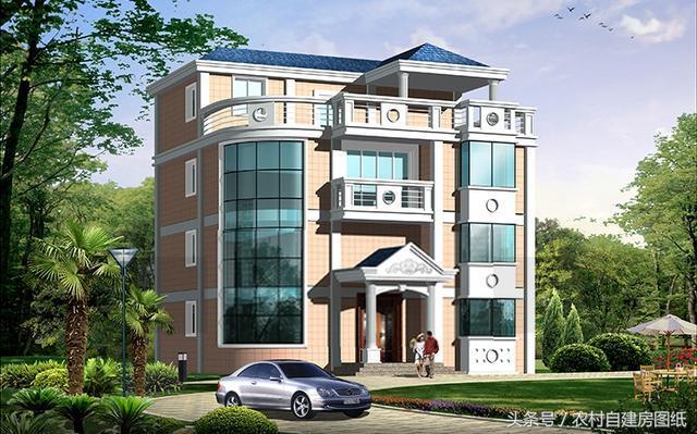 农村四层小别墅设计图纸及效果图大全 农村房子四层别墅图片 自建房屋设计