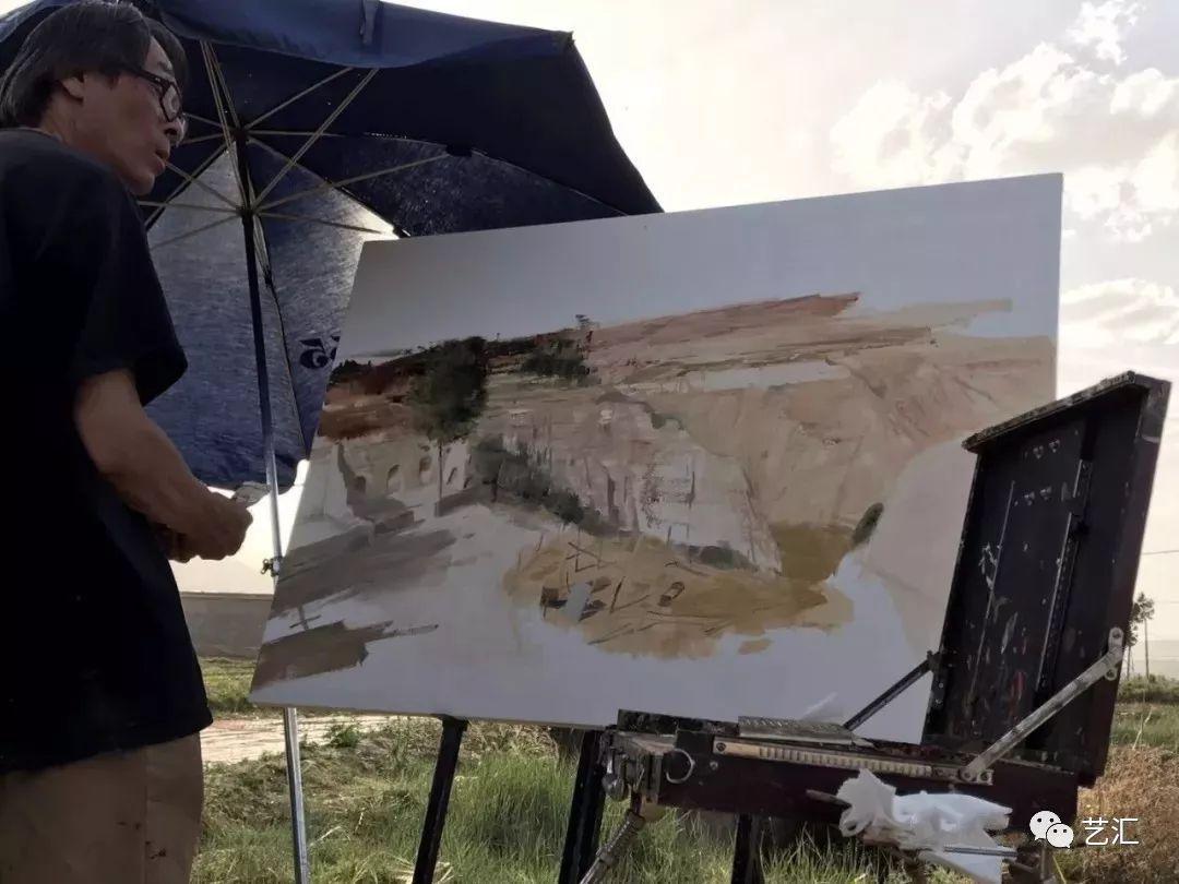 視頻:白羽平油畫風景寫生