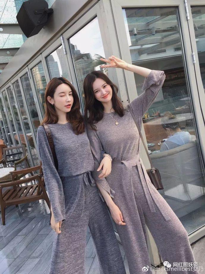 张大奕家的这个模特是个韩国妹子,颜值可以说是吊打张大奕了.