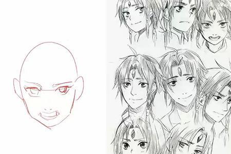 动漫 简笔画 卡通 漫画 手绘 头像 线稿 450_300