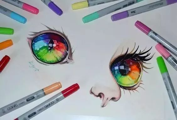 原来马克笔画画可以那么美!(附眼睛教程)