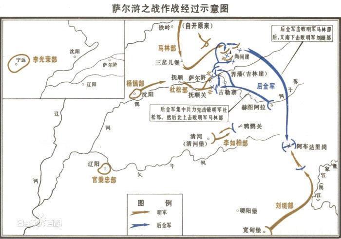 从分进合击的策略来,看大明王朝的萨尔浒之战的大败