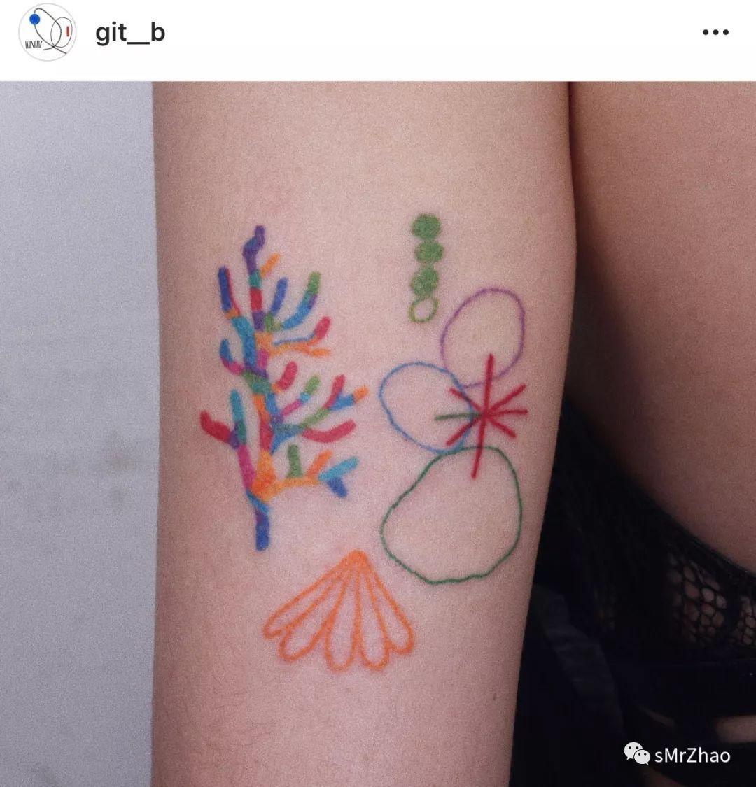 sMrZhao纹身推荐 第 152 期 彩色 线条 幼稚园简笔画纹身