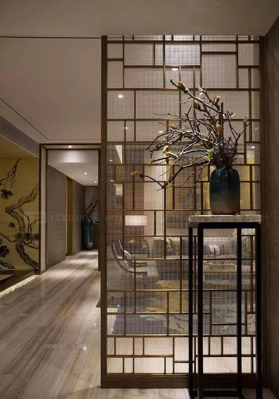 花格窗 古代窗花格用于窗户上装饰的棂条或肋材, 现代新中式的设计中图片