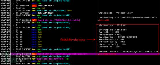 calcexe_2 注入模块  在主函数的开头,病毒母体创建一个线程完成calc.