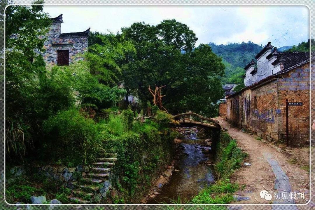 靠查济里面一些,有一处叫家画家村的地方,里面有庭院被画家们设立为图片