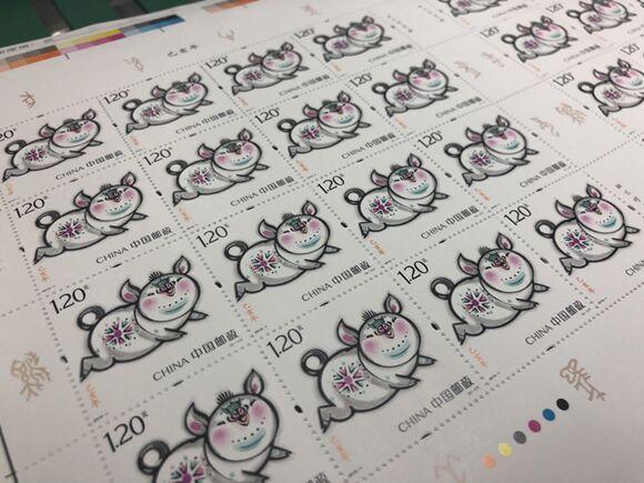 猪年邮票开机印刷 《二十四节气》邮票今日在渝首发