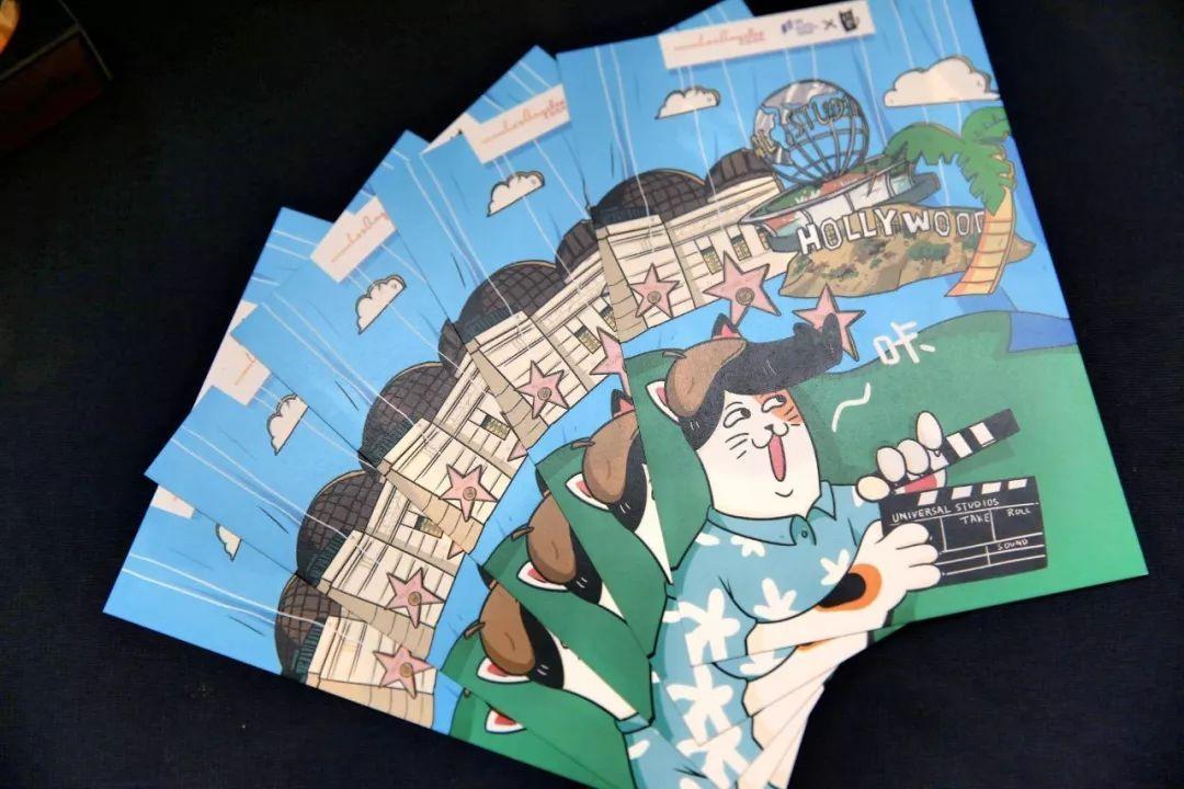 广州市手绘地标明信片