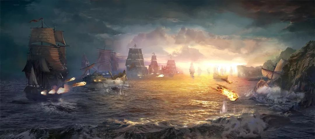 历史上的今天——1588年8月8日,西班牙和英国舰队在格拉沃利讷附近进行