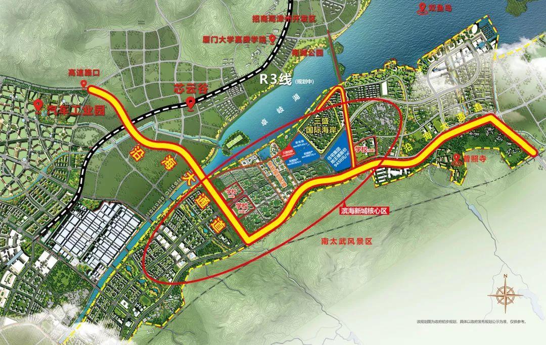 滨海新城规划图