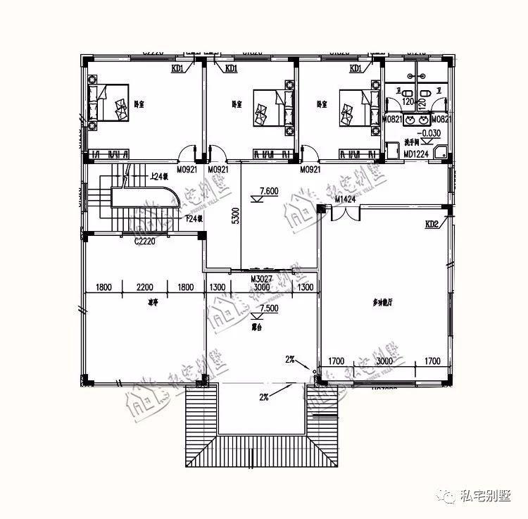 三层豪华欧式别墅设计,豪华又不失美感建在农村就是土豪的表现