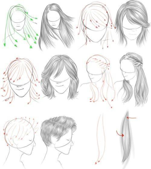 【精品】漫画中头发的画法