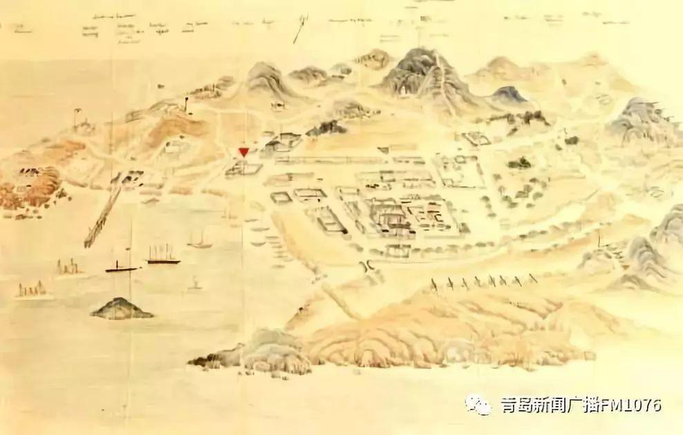 1900年青岛手绘地图