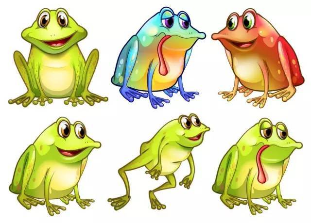 幼儿手工:学剪青蛙