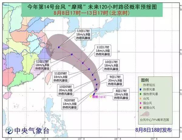 """14号台风""""摩羯""""生成!对温州的影响将是…"""