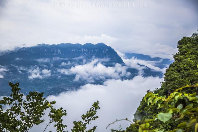 清江流芳江山如画,飘渺之巅黄鹤峰林,云雾涌动中探天机