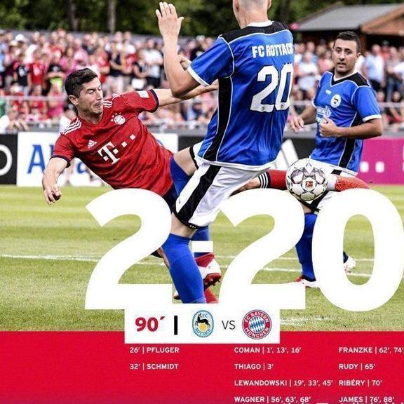 拜仁20-2暴虐罗塔赫-埃根怎么回事比赛情况介绍 四人帽子戏法