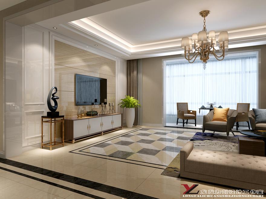 西安龙发装饰|客厅装修·现代风格装修效果图欣赏