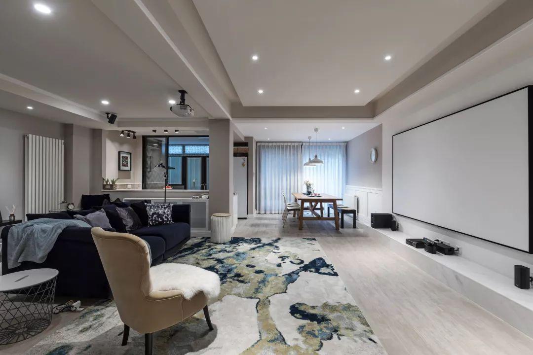 北欧混搭小复式,客厅投影电视墙,好漂亮!