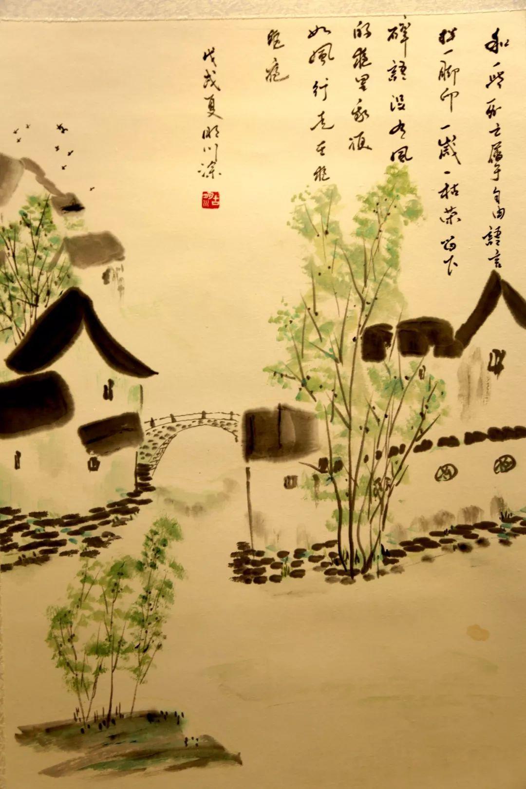 """""""讴歌新时代 谱写新篇章""""——西宁市改革开放40周年书画作品展在城西图片"""