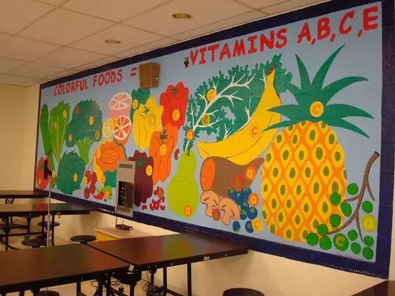 幼儿园主题墙手工制作葡萄树