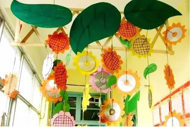 幼儿园开学环创,孩子太喜欢了(门窗+背景墙+吊饰+装饰