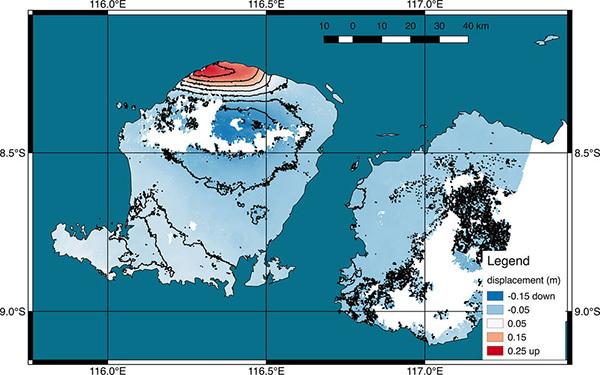 龙目岛被地震抬高     为何频发地震