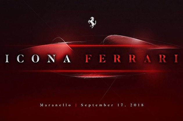 法拉利全新车型预告图发布 9月17日亮相
