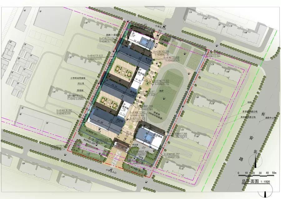 盐城聚亨路小学平面图
